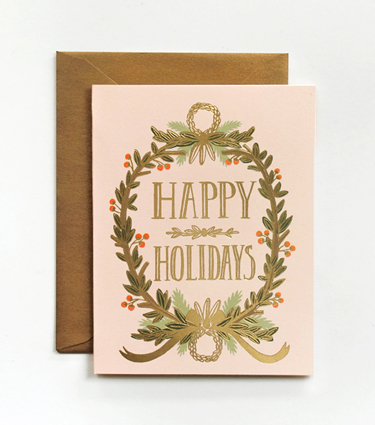 Rifle Paper Co. - Gold Foil Garland Card
