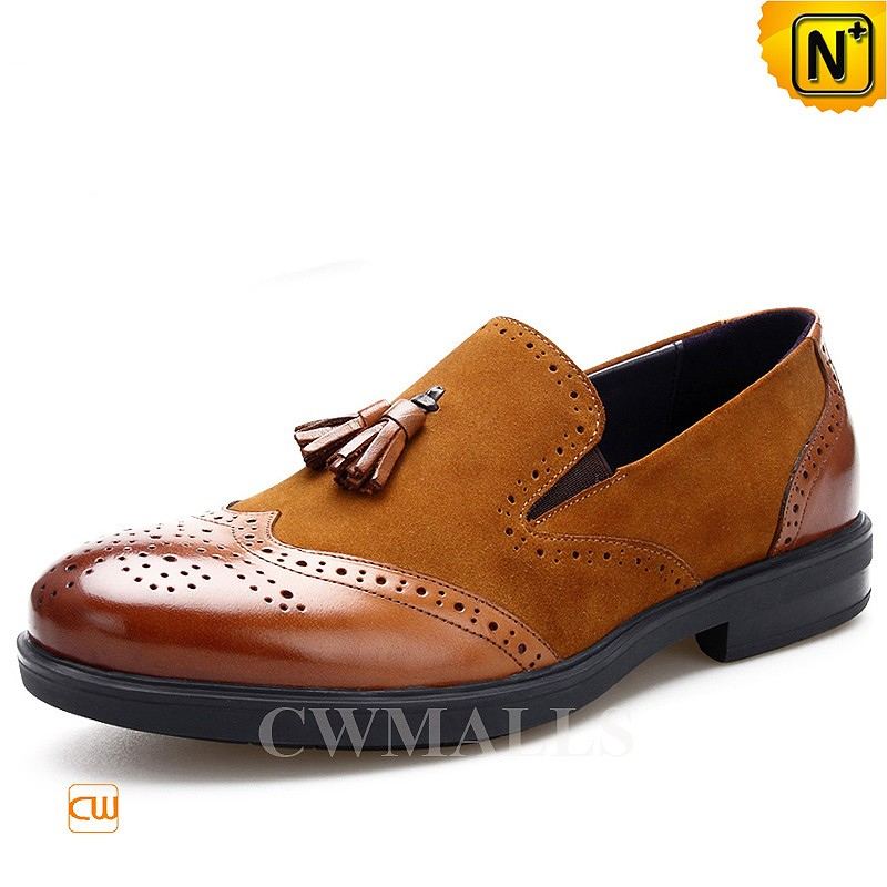 CWMALLS® Leather Tassel Brogue Loafers CW716041