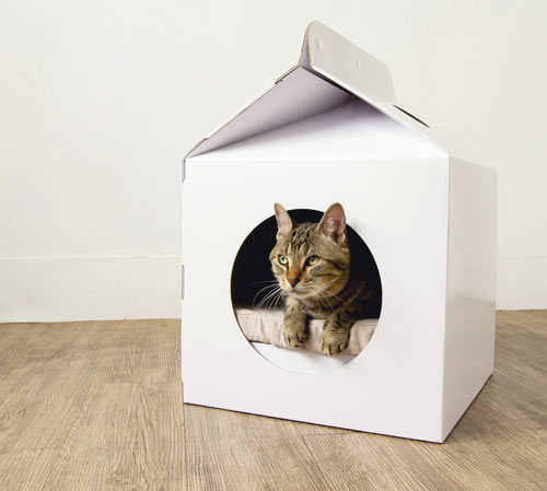 Milk Box Carton-Shaped Pet House | Design Milk