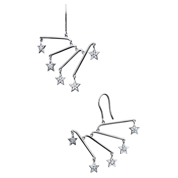 "mobile stars Earrings EID-3912-WGK18 | mobile stars | COLLECTION LINE ""Abstract World"" 
