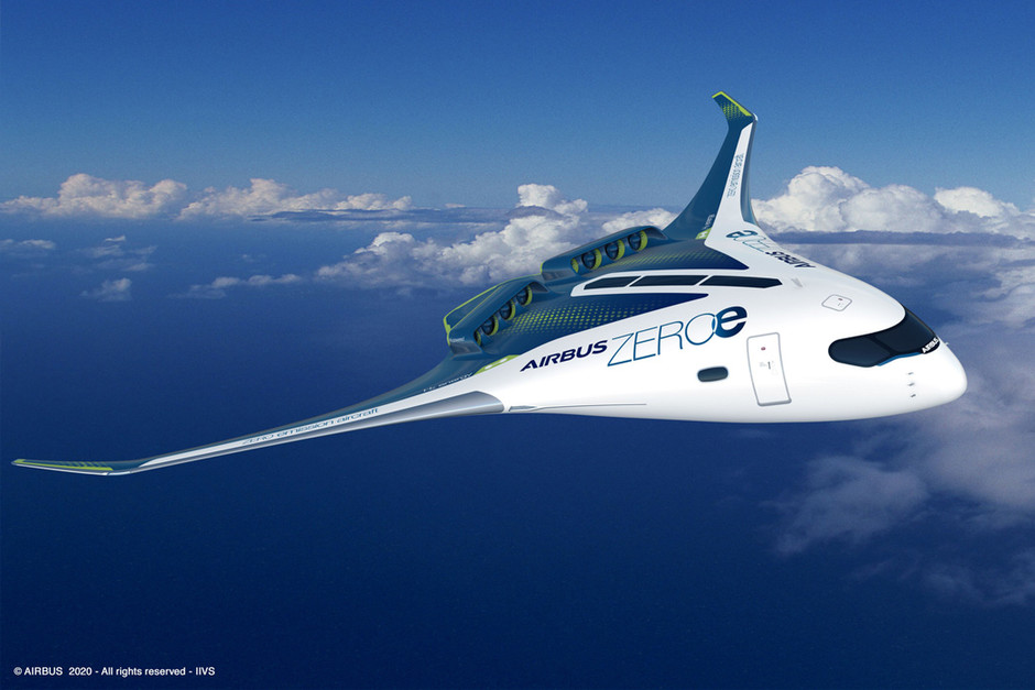 Airbus unveils three hydrogen-powered zero-emission aircrafts to be operational by 2035!   Yanko Design