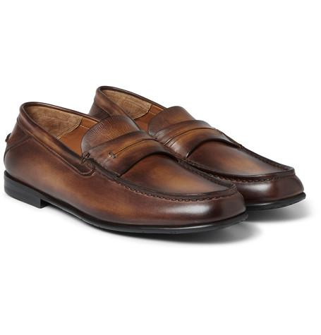 Berluti - Polished-Leather Loafers