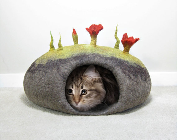 How to make Felted Cat Caves eBook tutorial by FeltingTutorials