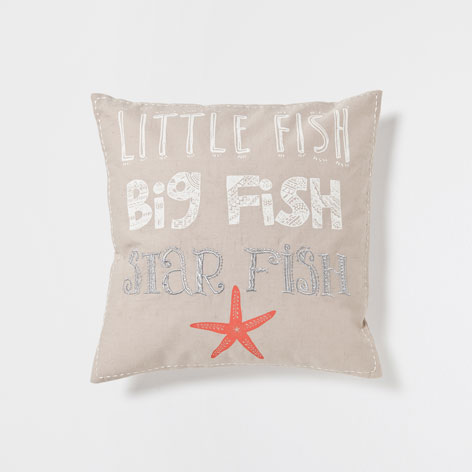 EMBROIDERED TEXT CUSHION - Cushions - Bedroom | Zara Home Japan