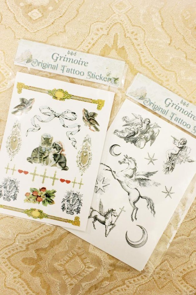 Original Tattoo Sticker【Blue Cat】×【Pegasus】 [Original Tattoo Sticker【Blue Cat] | Grimoire Online Shop �グリモワール オンラインショップ�