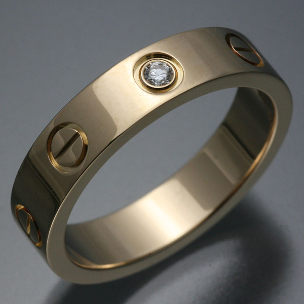 Rakuten: Cartier Cartier mini-love ring 1P diamond 8 #48K18PG pink gold 750 [used] [w3]- Shopping Japanese products from Japan