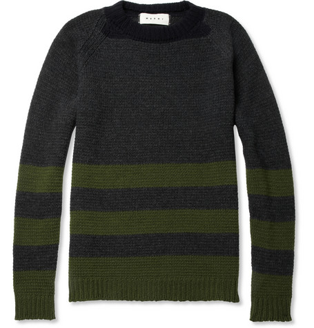 Marni Striped Wool and Cashmere-Blend Sweater | MR PORTER