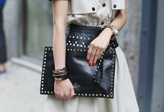 Valentino Leather Rockstud Zip Clutch | Beat Things