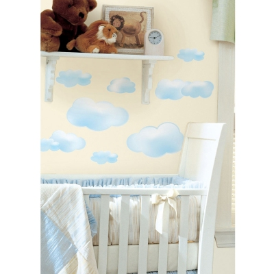 Roommates Clouds Wall Decals - Cloud Shaped Kids Room Wallpapers - Redlily.com
