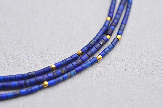 Lapis and Gold Beads Necklace (Margaret Solow) - SOURCE objects