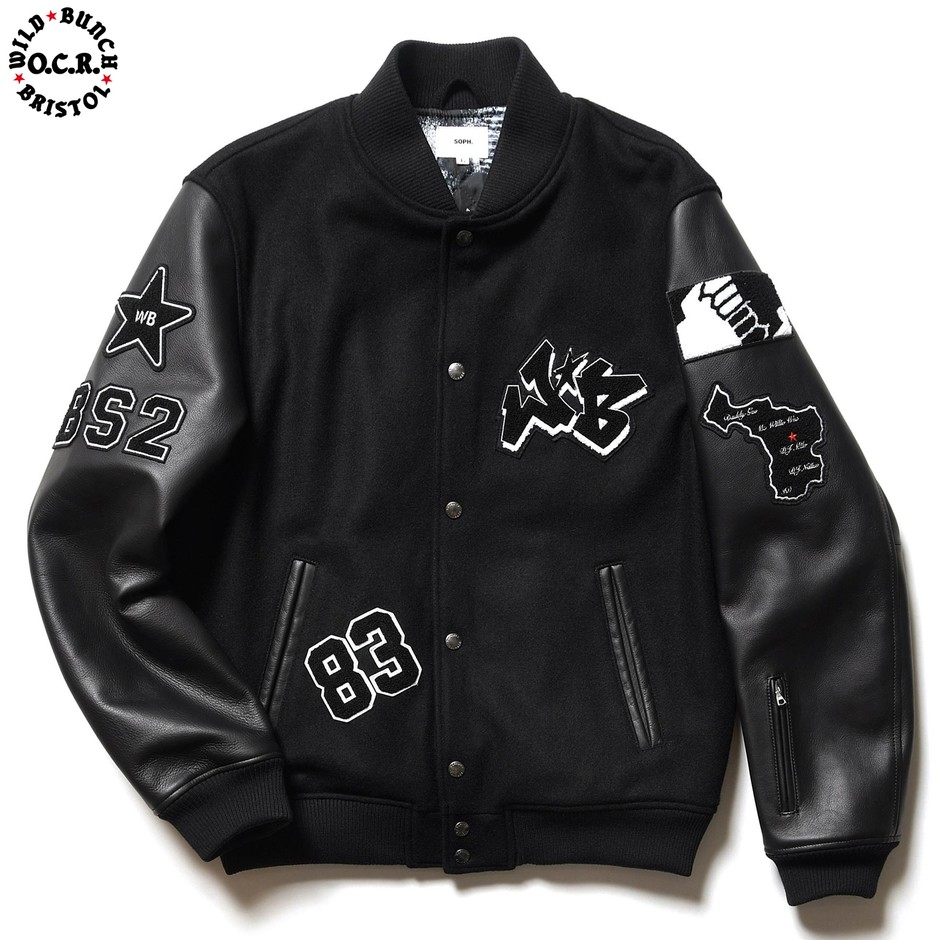 SOPH. | WILD BUNCH STADIUM JACKET(M BLACK):