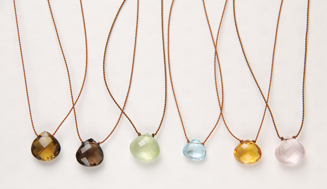 Margaret Solow 「Faced Stone Necklace」 マーガレット・ソロウ