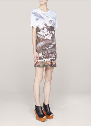 Carven - Printed cotton T-shirt dress | White Casual Dresses | Womenswear | Lane Crawford - Shop Designer Brands Online