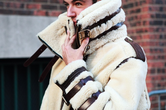 Men's Fashion / Burberry Prorsum shearling-trimmed aviator jacket. i'll own one soon.