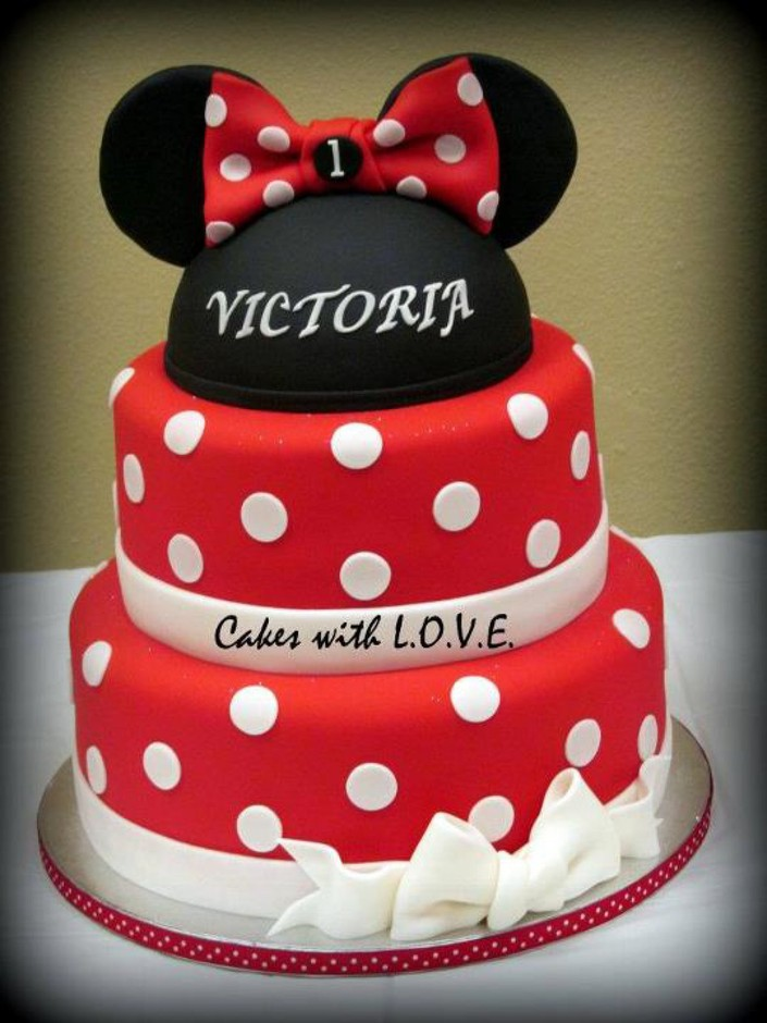 Minnie Mouse Cake Red cake - Cake Theater