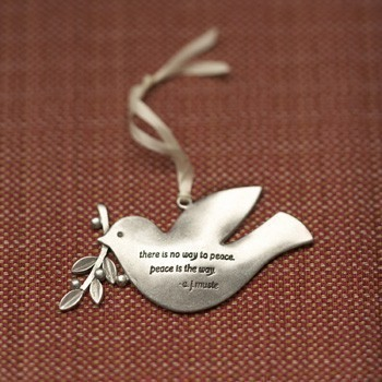 peace dove ornament by beehivekitchenware on Etsy