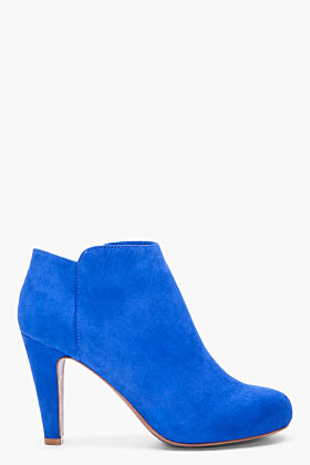 See By Chloe Blue Suede Ankle Boots for women | SSENSE