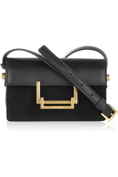 Saint Laurent | Lulu leather and suede shoulder bag | NET-A-PORTER.COM