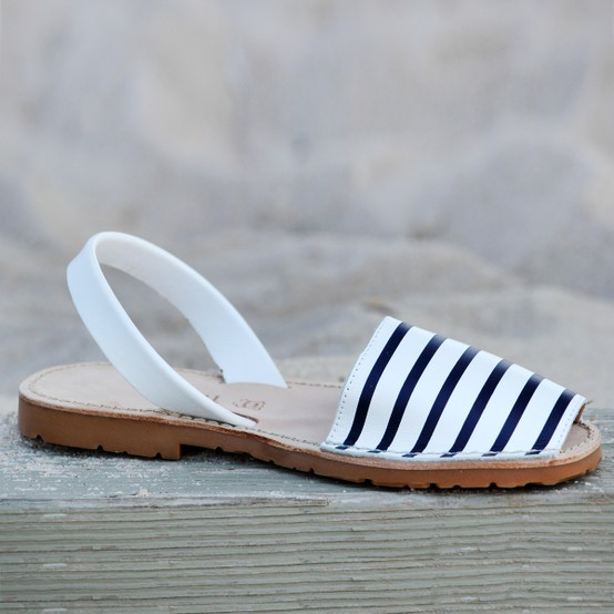 My Style / {Menorquinas Leather Sandals - Navy Stripe} for a touch of the nautical!