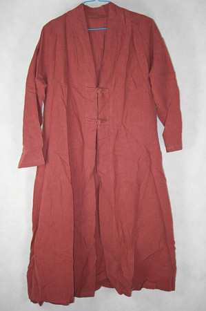 Women Loose brick red long shirt large size gown