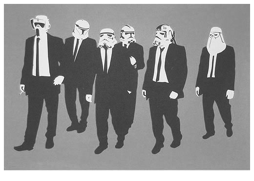 Reservoir Troopers (Signed Artist Proof Silkscreen of 15) by RYCA