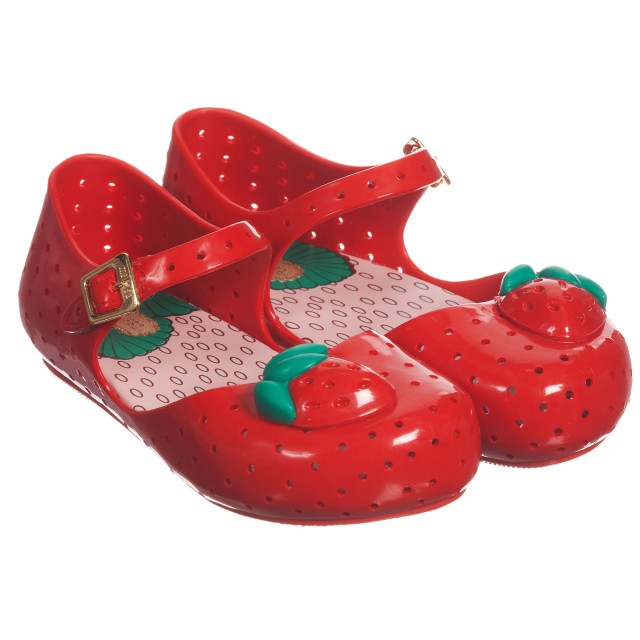 Mini Melissa - Red Jelly Shoes with ...