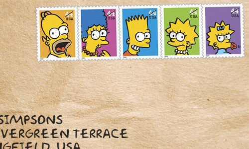The Simpsons stamps from USA | Stamp News & New