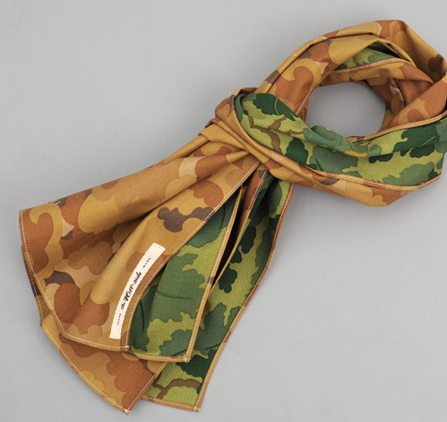 N70-172 - TAN CLOUD / MITCHELL DOUBLE CAMOUFLAGE LARGE SCARF :: HICKOREE'S