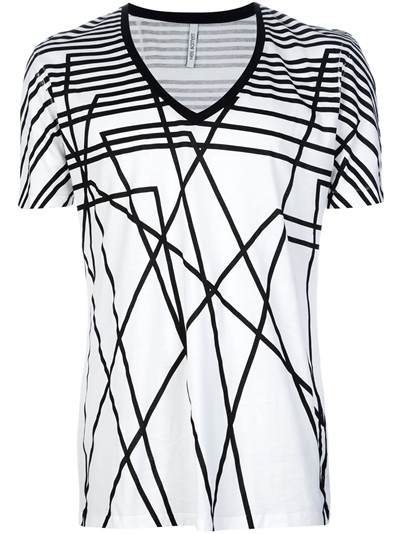 Neil Barrett Geometric Print T-Shirt - United Legend Strasbourg - farfetch.com