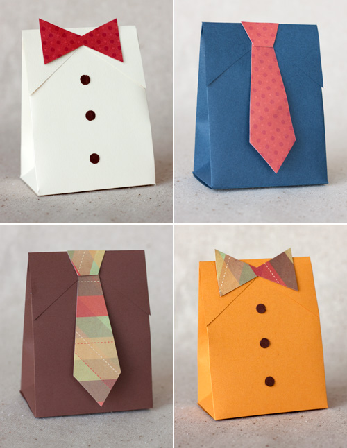 Artpixie | DIY Father's Day Shirt & Tie Gift Boxes by Paper...