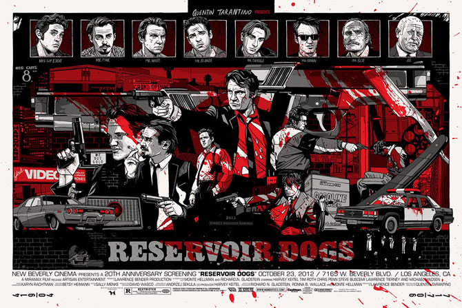 ポスター,作品,Reservoir Dogs,Tyler Stout「NOISEKING」