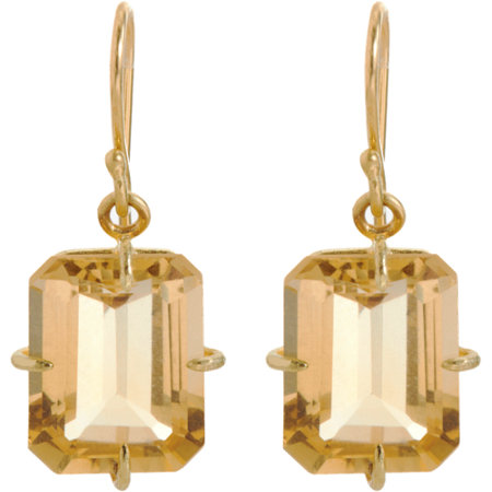 Rosanne Pugliese Champagne Citrine Small Drop Earrings at Barneys.com