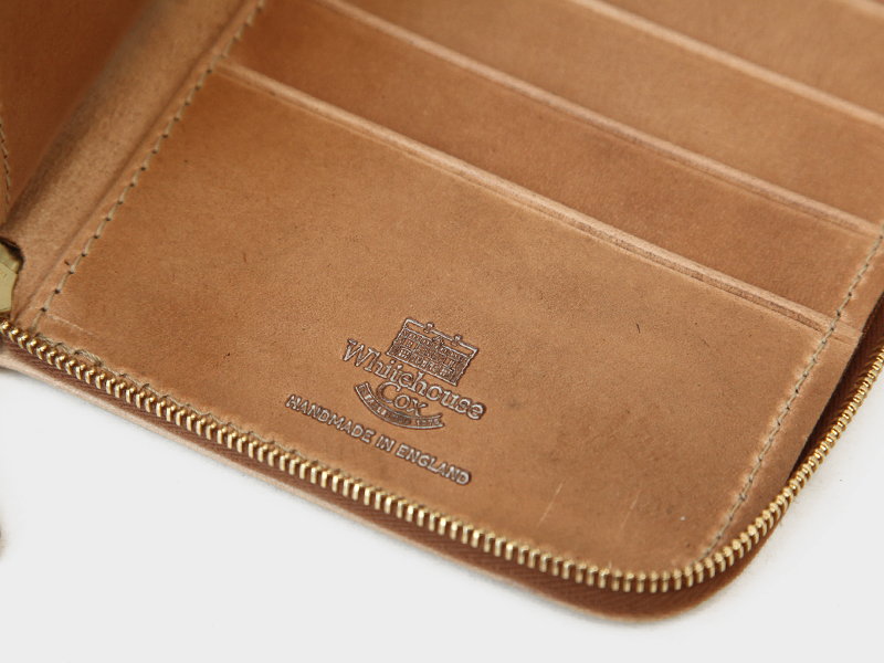 ホワイトハウスコックスS1259 LONG ZIP WALLET / VINTAGE 2TONE|FRAME