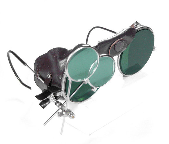 Steampunk Goggles Vintage American Optical Steampunk by edmdesigns