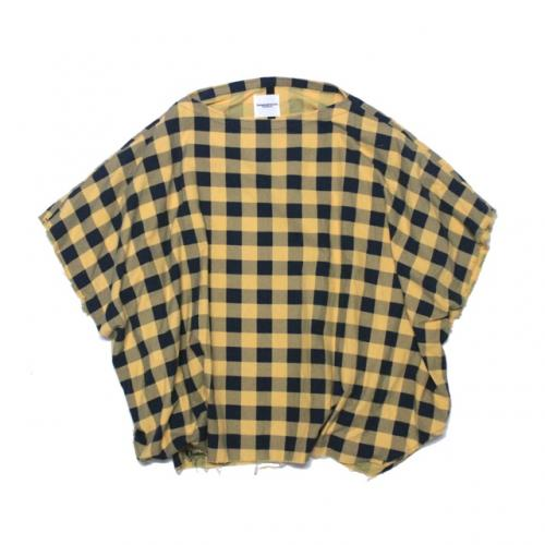 poncho shirt. -yellow.×navy.- - circus e-boutique