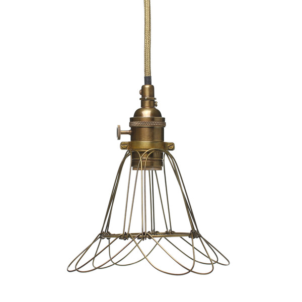 Brass Cage Lamp | Old Faithful Shop