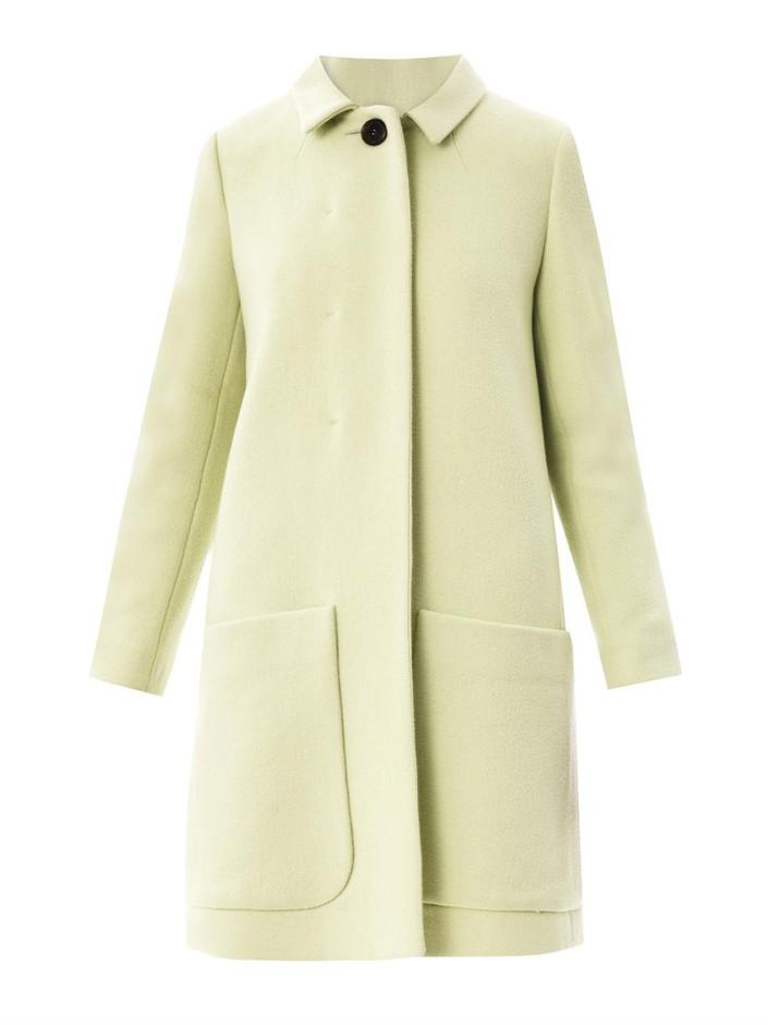 Kaliko boucle coat with patch