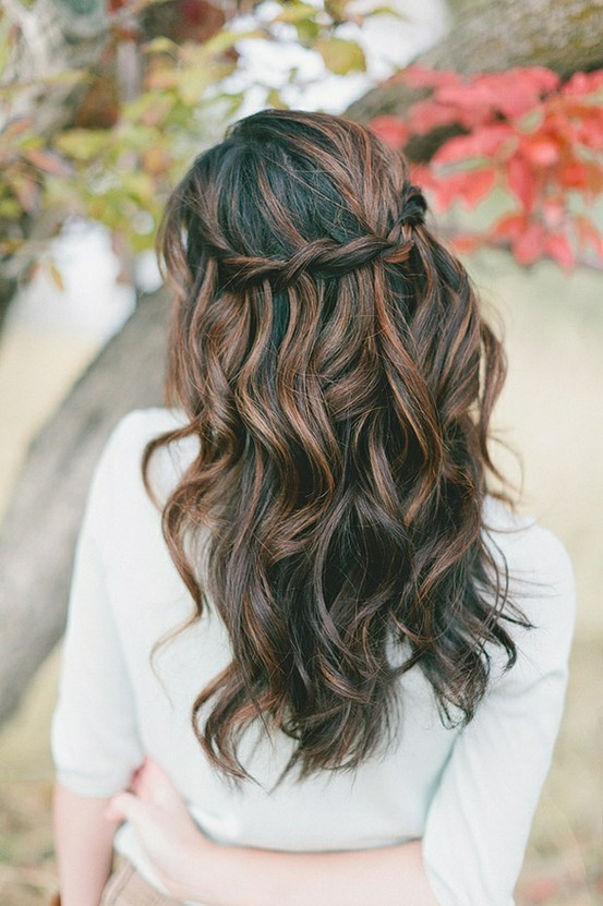 brown, curly, girl, hair - inspiring picture on Favim.com