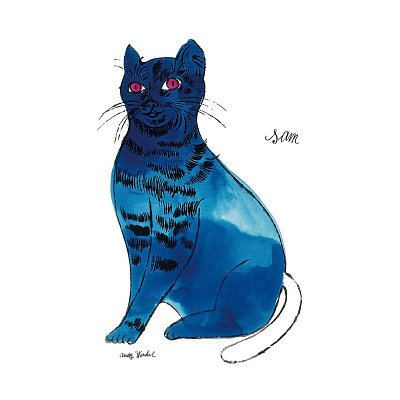 Amazon.com: Andy Warhol 25 Cats Named Sam and One Blue Pussy 1954 Blue Sam Art Print Poster - 13x19: Home & Garden