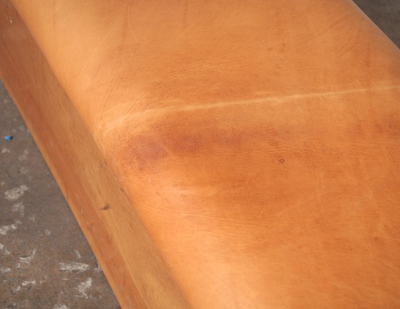 Vintage Leather Gymnastic Horse Bench or Coffee Table: Amsterdam Modern