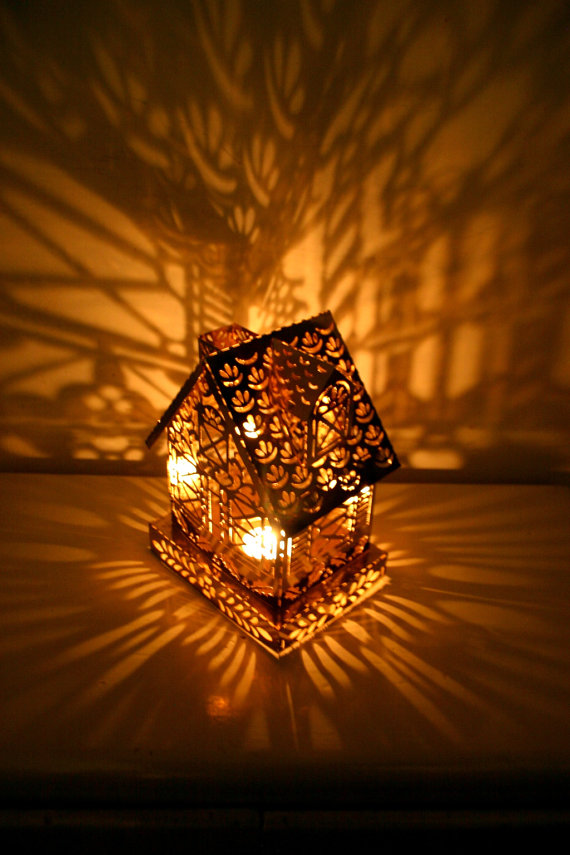 Magic House Vintage Shadow Lamp by CaptainCat on Etsy