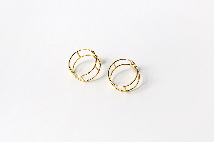 Earring LINE ROUND - doinel/ドワネル