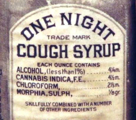 """9"""" x 12"""" 1888 Cough Syrup Cannabis and Morphine Vintage Look Reproduction Metal Sign"""