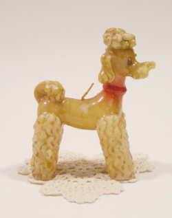 "1950-60's ""POODLE"" Vintage Candle Interior"
