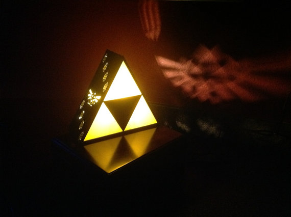 Zelda Triforce Lamp by Plasmatorium on Etsy
