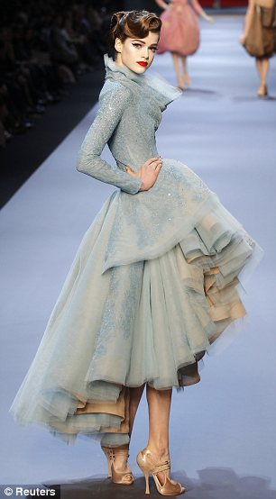 Christian Dior haute couture: Brushstrokes and primary colours make show work of art | Mail Online