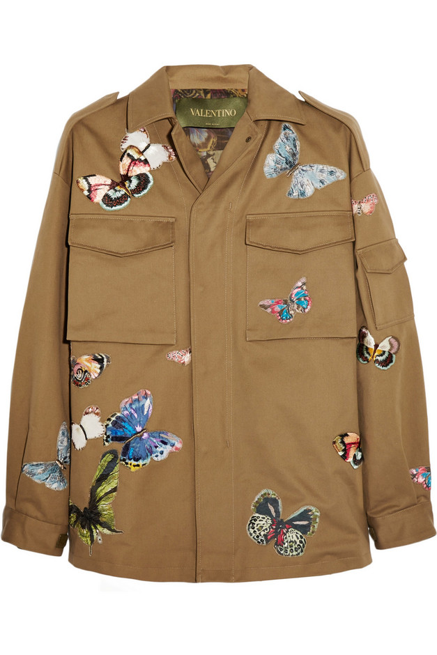 VALENTINO                                                            Jacket with Camubutterfly hand-embroideries