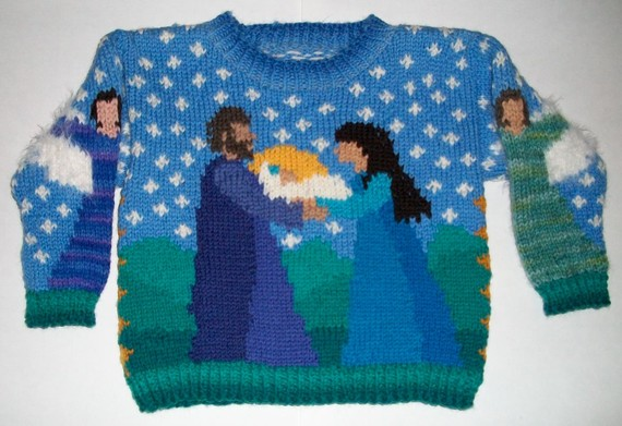 One Year Christmas Sweater by amarinalevin on Etsy