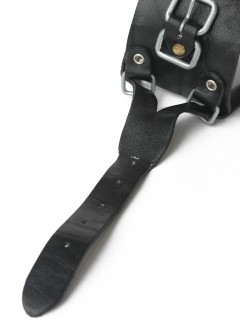 LOVE online store|MEN  Leather Wrist Strap (black)