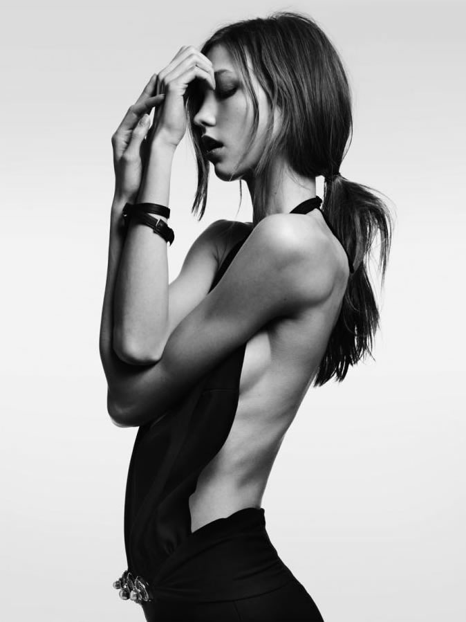 Piccsy :: Karlie Kloss by Hedi Slimane for Vogue Japan February 2012